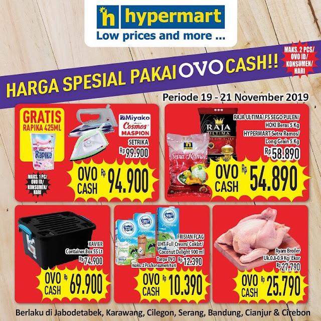 #Hypermart - #Promo Harga Special Pakai OVO Cash Periode 19 - 21 November 2019