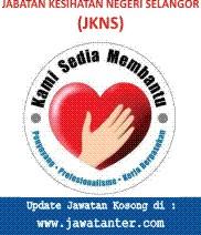 Jawatan Kosong Jabatan Kesihatan Negeri Selangor