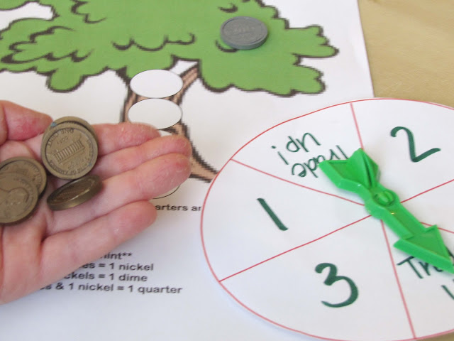 fun coin value math game