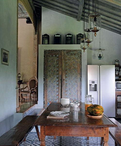 "No. 02 - Home of Dominique and Jean-Marc Verdellet: Villa Kalyana -  means ""well-being"" in Sanskrit - from the book The Inspired Home:  Interiors of Deep Beauty by Karen Lehrman Bloch recommended by linenandlavender.net - http://www.linenandlavender.net/2014/03/the-inspired-home-interiors-of-deep.html"