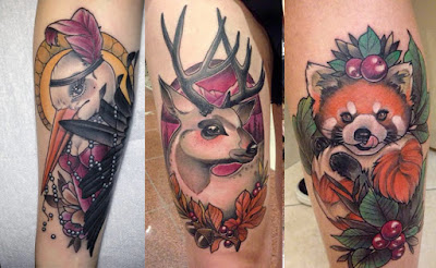 Tatuajes de animales de Debora Cherrys