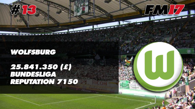 Football Manager 2017 Wolfsburg Transfer Budget