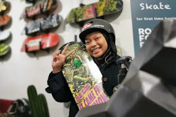 Angela Justice Dobrak Stereotipe Anak Perempuan Tak Bisa Main Skateboard