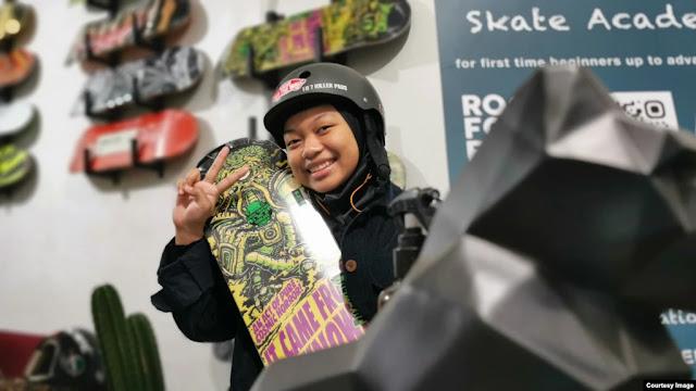 Angela Justice Dobrak Stereotipe Anak Perempuan Tak Bisa Main Skateboard.lelemuku.com.jpg