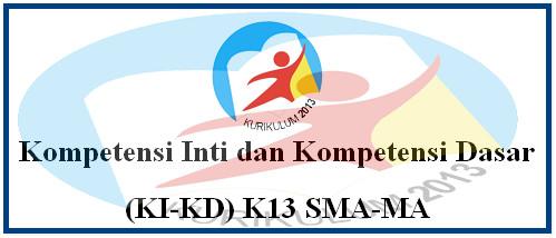 Kompetensi Inti dan Kompetensi Dasar (KI-KD) K13 Untuk SMA-MA