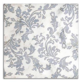 Charleston Pattern in Powder Blue