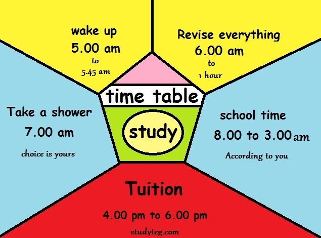 time table for study in hindi