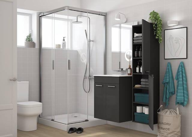 Organisiertes und ordentliches Badezimmer