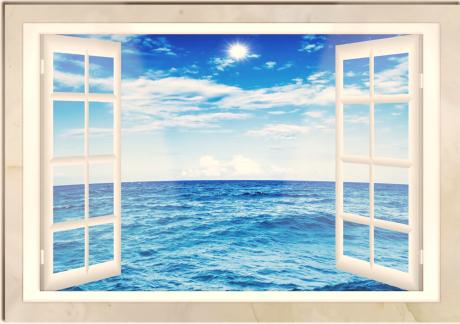 Ocean View Window Art