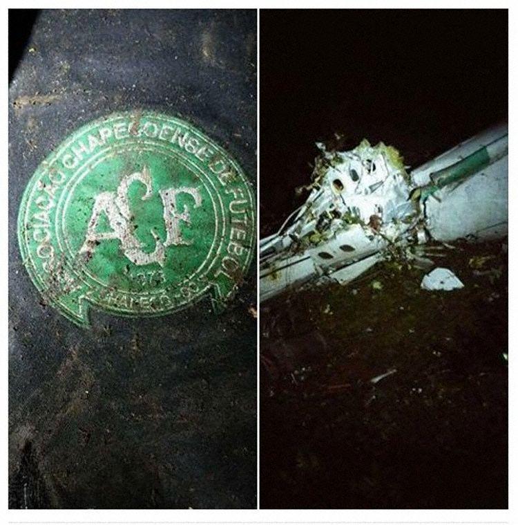 As primeiras imagens no local do acidente que transportava o time da Chapecoense. Fotos: Reprodução / Avherald
