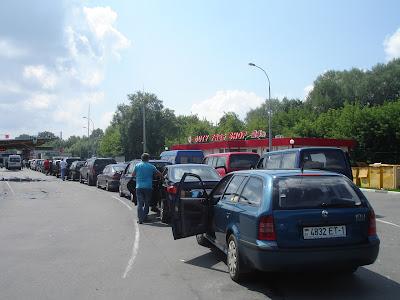 Очередь на пограничный контроль в Белоруссии