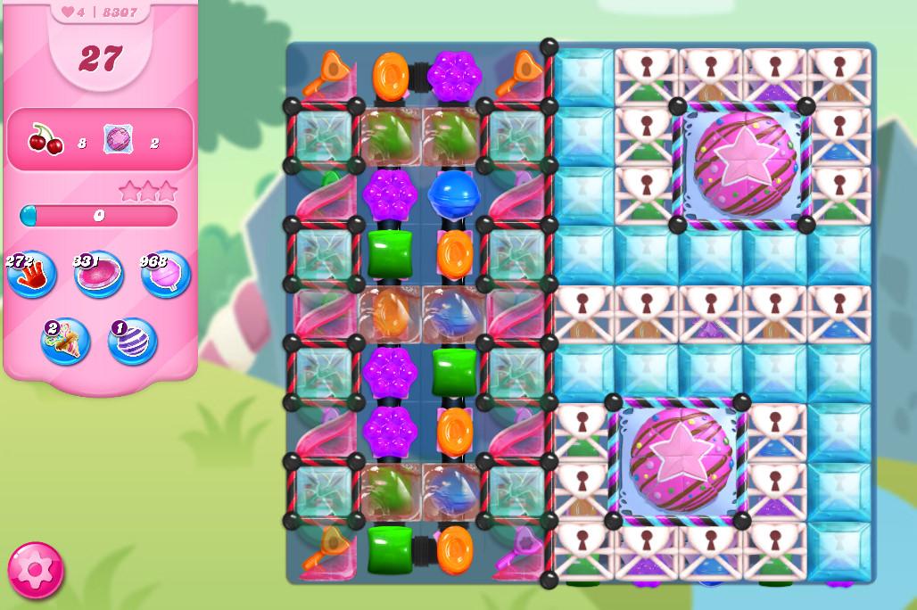 Candy Crush Saga level 8307