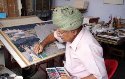 Dr M K Sharma Sumahendra, Kalavritt, Miniature Painting, Miniature Painting Camp, Rajasthan University Visual Arts Dept