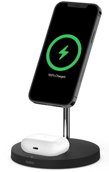 BOOST↑CHARGE™ PRO 2-in-1 Wireless Charger Stand with MagSafe