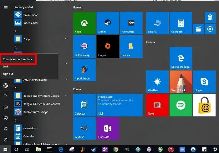 تحرير-آخر-المستخدمين-التسجيل-windows-10-تغيير-إعدادات الحساب
