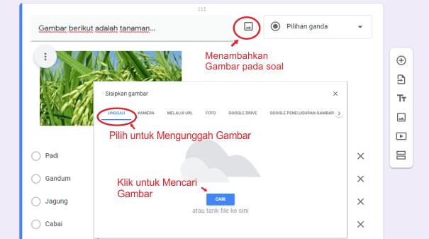 Memasukkan gambar pada google form