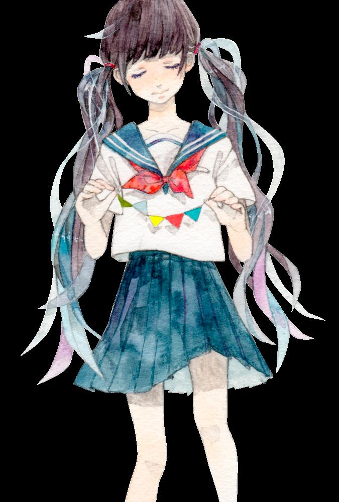 anime girl colegiala