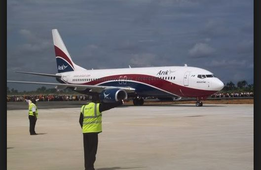 Arik Air Aircraft Flying From Lagos Loses Engine Mid-Air