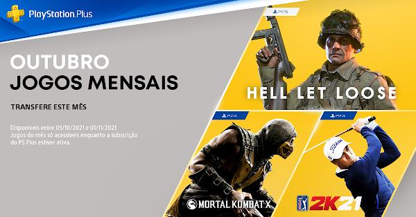 Foram revelados os jogos do mês de outubro no PlayStation®Plus: Hell Let Loose, Mortal Kombat X e PGA TOUR 2K21