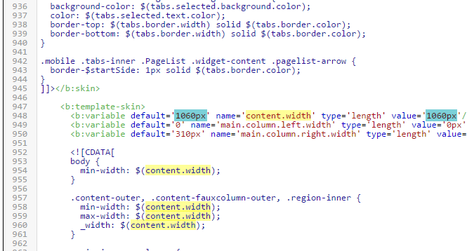 Modifier la largeur du pied de page à 100% de la page sur Blogger