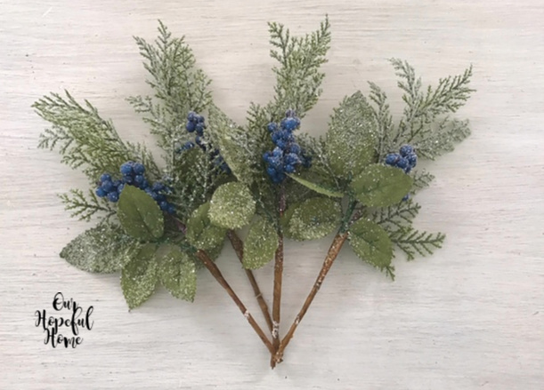 frosted juniper berry picks