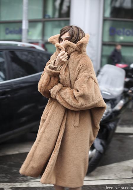 Carine Roitfeld Teddy coat