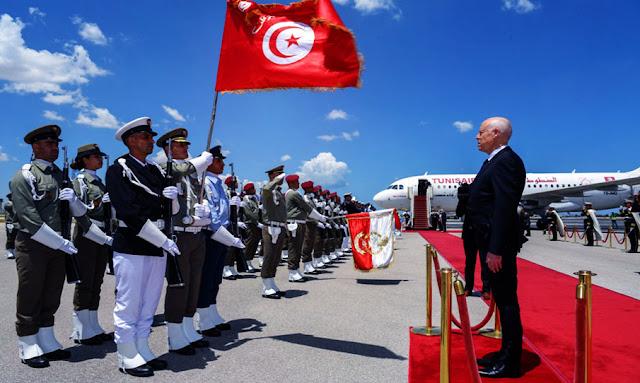 Première visite du président tunisien Kaïs Saïed à Paris