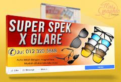 Design Cover Photo Facebook Page Super Spek X Glare