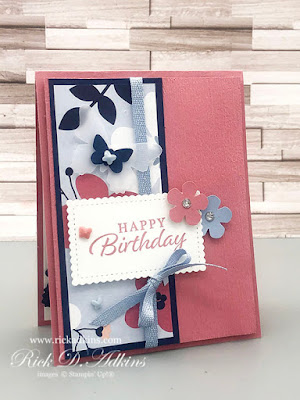 Birthday cards are always a great place to have Happy Thoughts!  Click here to learn how I used the Happy Thoughts Stamp Set with the Paper Blooms DSP