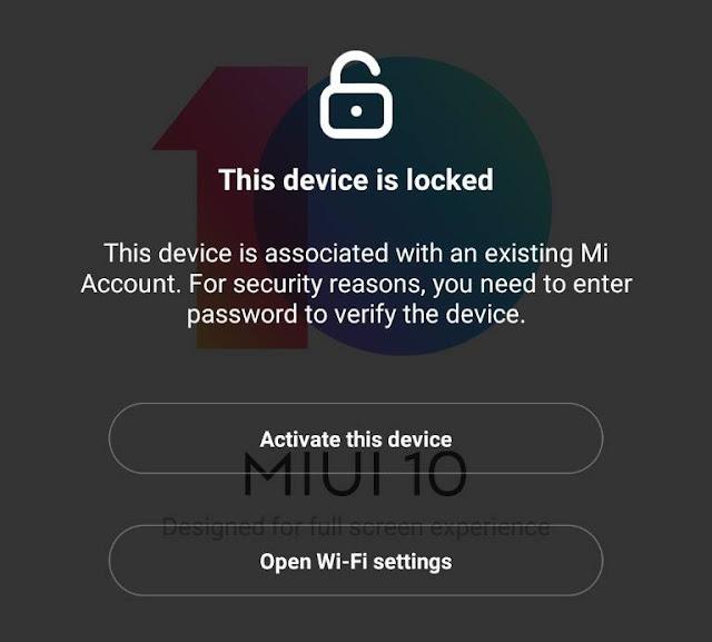 على سيرفر ملوك تيم Xiaomi Mi-Account Remove