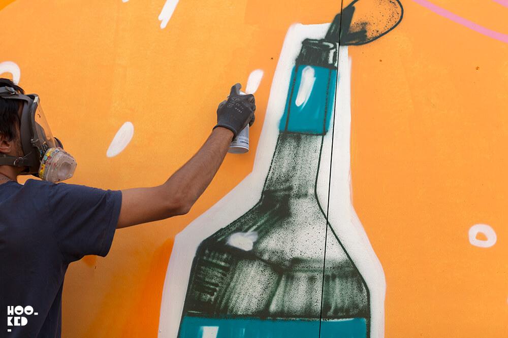 Argentinian artist Mart Aire's London Street Art mural in Shoreditch