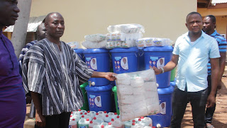 KARAGA: NPP Parliamentary Candidate Supports Assembly's COVID-19 Efforts With Handwashing Items