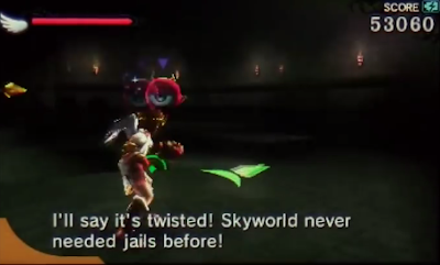 Skyworld never needed jails before Pit Kid Icarus Uprising Chapter 20 Palutena's Temple dialogue quote