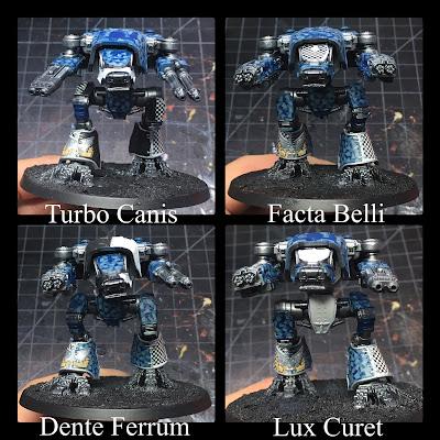 Legio Tempestus Warhound Titans WIP for Adeptus Titanicus