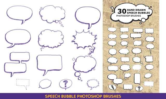 Speech Bubble Photoshop Brushes