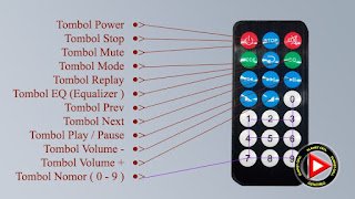 remote control modul mp3 usb bluetooth 747D