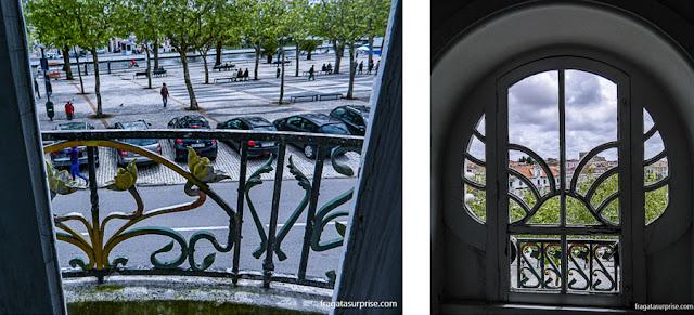 Aveiro vista dos balcões Art Nouveau da Casa do Major Pessoa e do Museu da Cidade