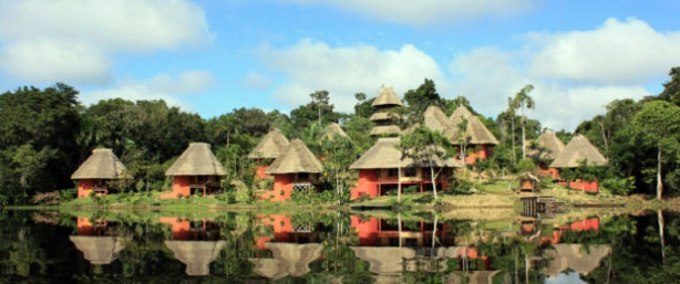 Chozas en el Amazonia y su clima