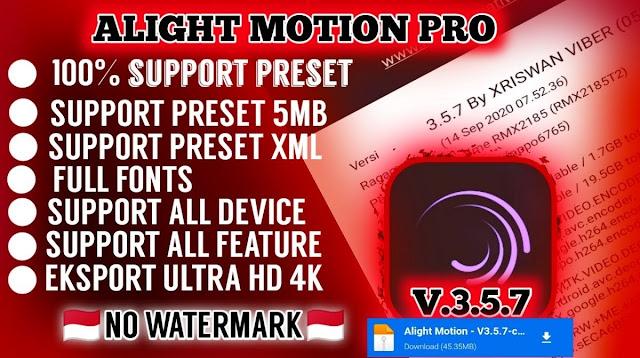 Preset Alight Motion Pro APK