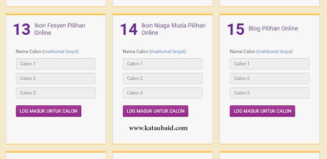 Anugerah Pilihan Online 2016