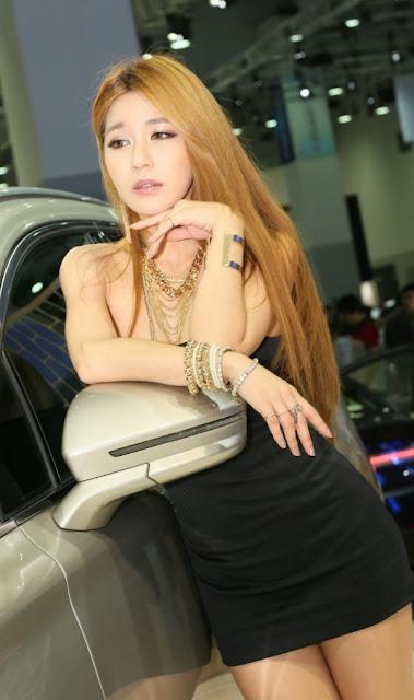 4 Park Si Hyun Sexy In Black - very cute asian girl-girlcute4u.blogspot.com