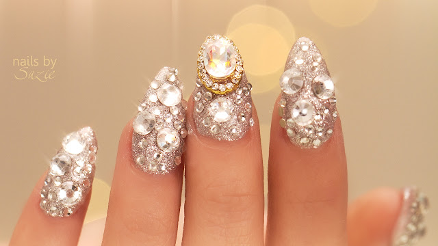 Nails embedded in jewels