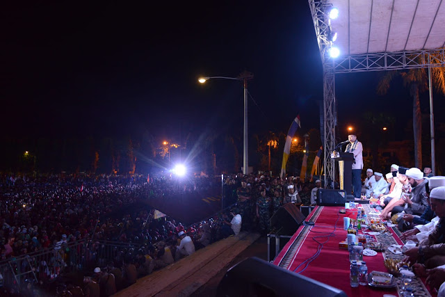 Gubernur Lampung M.Ridho Ficardo Bersholawat Bersama Masyarakat