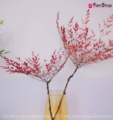 Cành hoa thiên nam đỏ CTN160