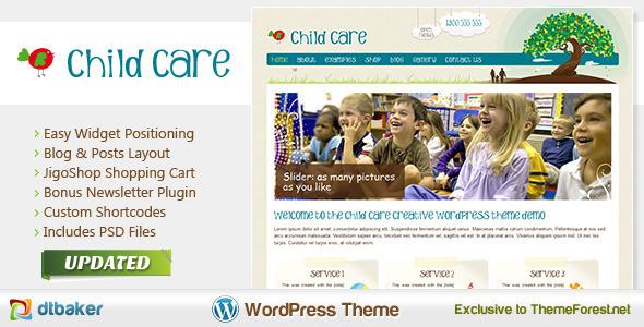 child-care-creative-wordpress-shop-newsletter