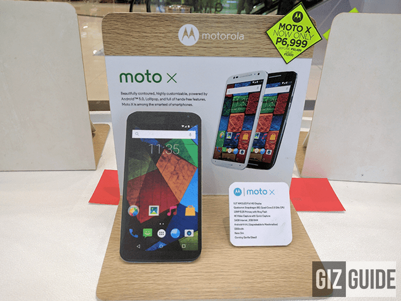 Moto X 2nd gen sale at 6,999 Pesos