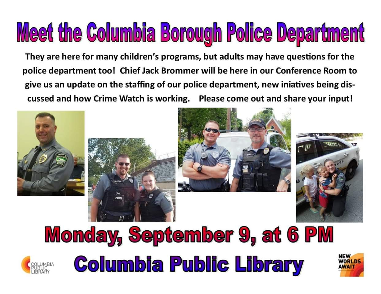 COLUMBIA SPY: Meet the Police - Monday, September 9, at the