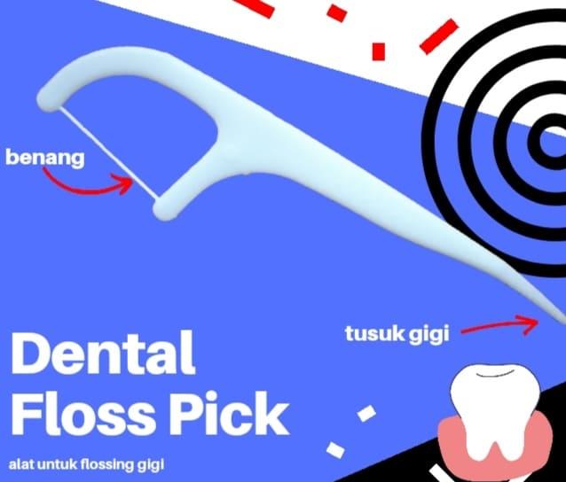 cara menggunakan dental floss pick