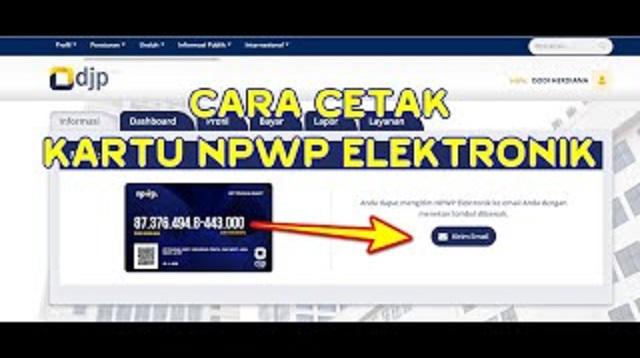 Cara Cetak NPWP Online