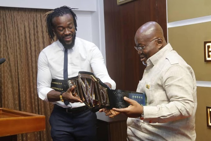 Your Achievement Will Inspire Youth of Ghana - President Akufo Addo to WWE Champion